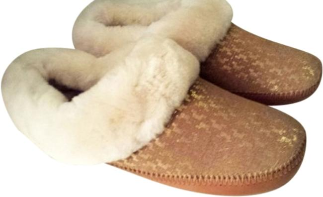 Item - Tan/Gold Belding Slippers Mules/Slides Size US 9 Regular (M, B)