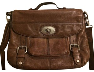 Fossil Leather Messenger Shoulder Bag