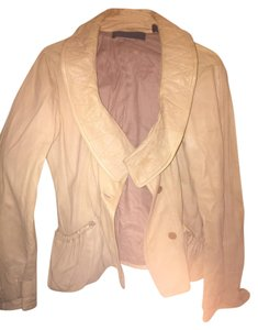 Donna Karan tan Leather Jacket
