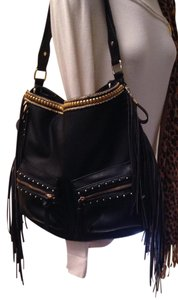 Big Buddha Embellished Fringe Custom Eco Leather Shoulder Bag
