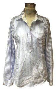 Ralph Lauren Nautical Preppy Shirt Button Down Shirt White Striped