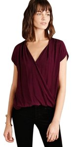Anthropologie Corssover Top Wine/ Deep Purple