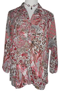 New Directions Top Paisley Floral