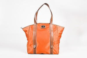 Lancel Nylon Folding Tote in Orange