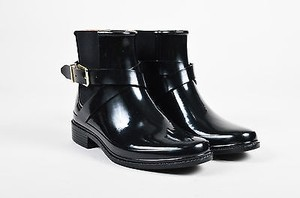 Burberry Rubber Buckled Black Boots
