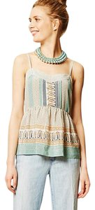 Anthropologie Peplum Pleated Top Multi