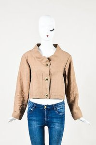 Marni Linen Cropped Brown Jacket