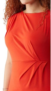 Lane Bryant Drapey Tee Stretch Tee Dress T-shirt Stretch T-shirt Top Tangerine