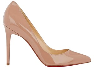 Christian Louboutin Pigalle Stiletto Patent 100mm nude Pumps