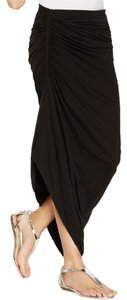 Studio M M Macy's Ruched Maxi Skirt Black