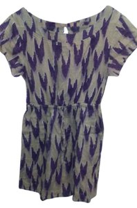 Anthropologie short dress Purple and lightest brown on Tradesy