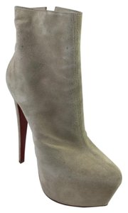 Christian Louboutin Daffodile Bootie Suede Stone Boots