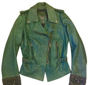 Diesel Green Leather Jacket