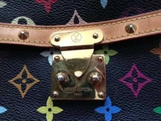 Louis Vuitton Leather Limited Edition Monogram Studded Shoulder Bag