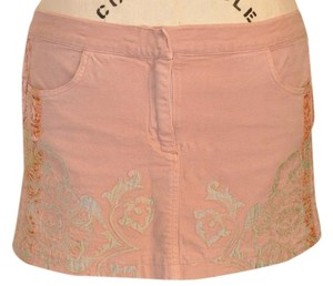 Roberto Cavalli Mini Skirt Peach, Coral, Gray