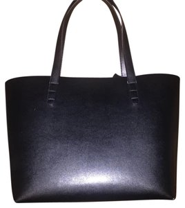 Black Work Pouch Tote in Black, Gold