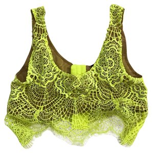 For Love & Lemons Top Neon yellow