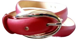 TEHAMA TEHAMA Genuine pink leather belt with Century Canada buckle