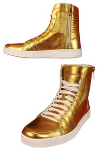 Gucci Gold Metallic White Athletic