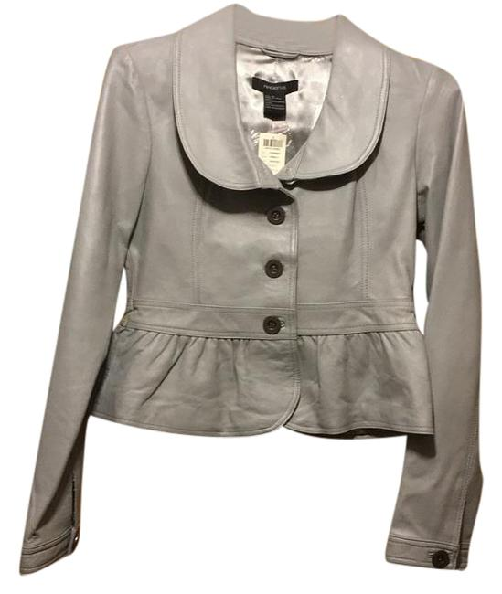 Arden B. Grey Leather Jacket