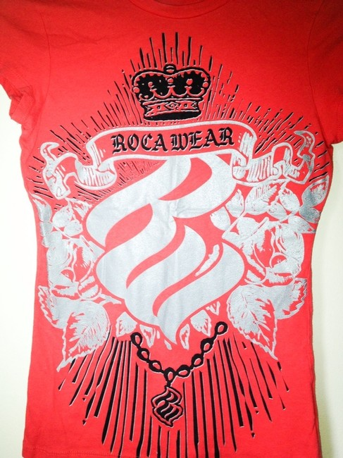 Rocawear Graphic Graphic Graphic Coral T Shirt