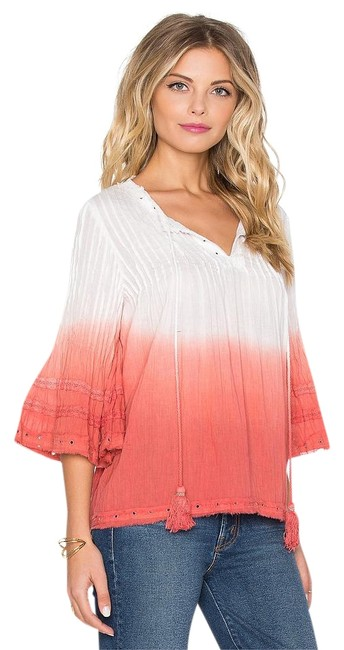 Preload https://img-static.tradesy.com/item/19812360/tularosa-watermelon-ombre-one-of-a-kind-details-huxley-tasseled-blouse-s-tunic-size-6-s-0-1-650-650.jpg