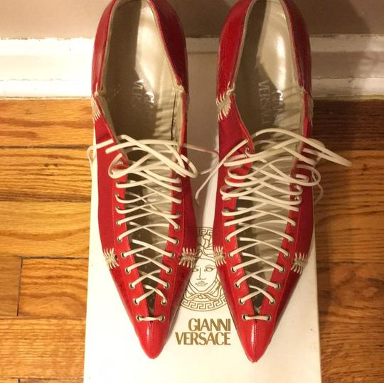 Versace Red Boots