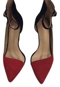 Zara Red color block Pumps