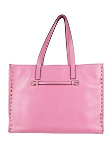 Valentino Studded Rockstud Tote in Pink