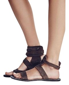 Free People Little Fox Sable Chocolate Sandals