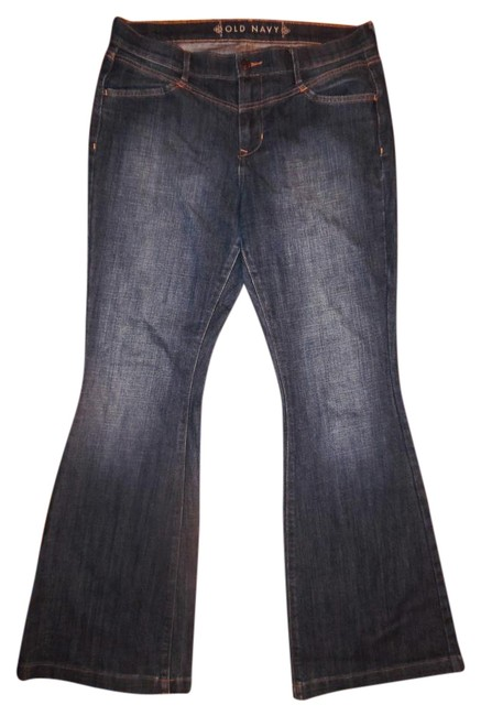 Preload https://item4.tradesy.com/images/old-navy-blue-distressed-faded-worn-stretchy-wide-denim-flare-leg-jeans-size-34-12-l-19812503-0-1.jpg?width=400&height=650