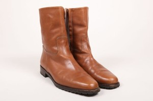 Manolo Blahnik Brown Leather Boots