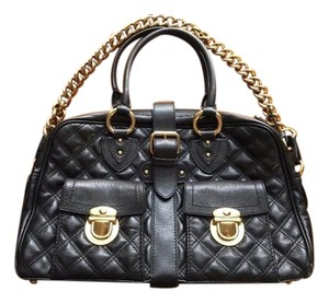 Marc Jacobs Venetia Quilted Heavy Chain Celebrity Favorite Discontinued Satchel in Black
