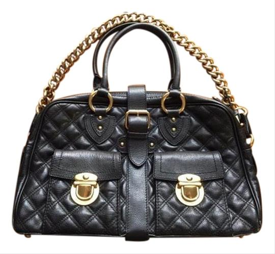 Preload https://item5.tradesy.com/images/marc-jacobs-venetia-quilted-calf-skin-black-leather-satchel-19812674-0-4.jpg?width=440&height=440