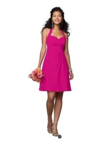 Alfred Angelo Fuchsia Jr. Bridesmaid Dress (Size 8 Child) 7172