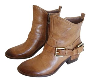 Donald J. Pliner Leather Tan Boots