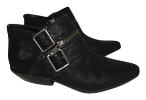 Shellys London New No Box Structured Leather Black Boots