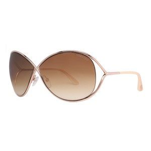 Tom Ford NEW Tom Ford Sunglasses TF 130 MIRANDA Beige Gold 28F TF130 Woman's