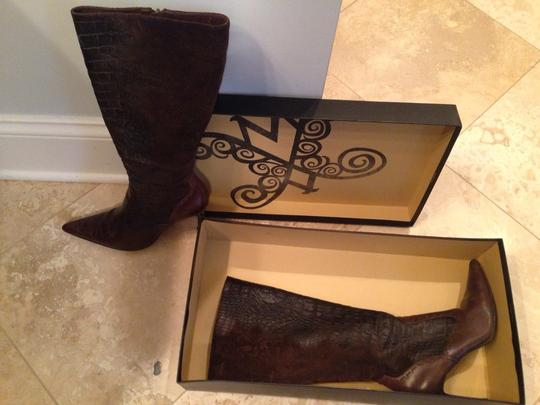 Modern Vintage Brown Suede Leather Boots