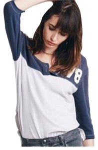 Free People T Shirt Light grey and navy blue