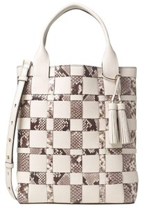 Michael Kors Vivian Large Woven Leather Tote in ECRU Nature