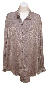 J. Jill Plus-size Vintage Top Bronze