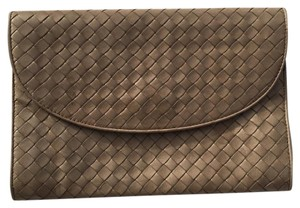 Bottega Veneta Nappa Leather Vintage Beige Clutch