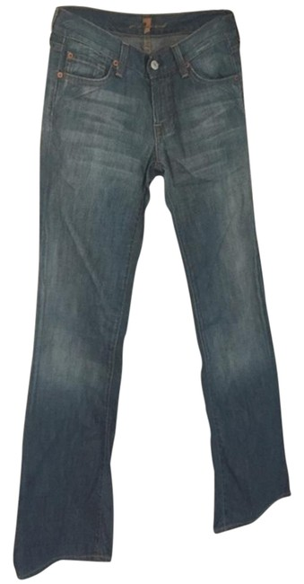 Preload https://img-static.tradesy.com/item/19812960/7-for-all-mankind-blue-medium-wash-boot-cut-jeans-size-25-2-xs-0-2-650-650.jpg