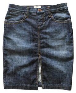 Frankie B Denim Skirt DEEP BLUE