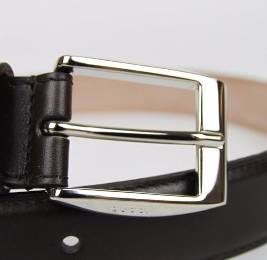 Gucci Brown Leather Belt with Classic Square Buckle 110/44 336831 2140