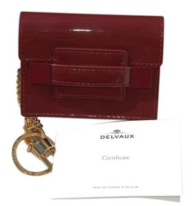 Delvaux NIB Delvaux Madame bag charm/ key pouch Patent Leather Red