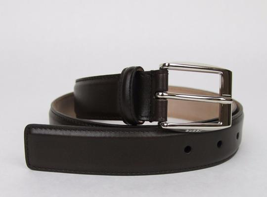 Gucci Brown Leather Belt with Classic Square Buckle 115/46 336831 2140