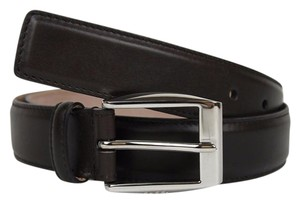Gucci Brown Leather Belt with Classic Square Buckle 120/48 336831 2140