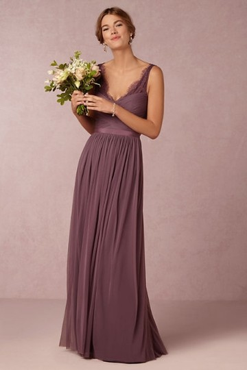 BHLDN Antique Orchid Tulle Fleur Formal Bridesmaid/Mob Dress Size 0 (XS) Image 2